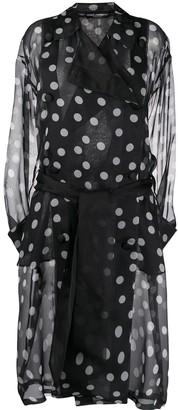 Dolce & Gabbana Polka Dot Organza Trench Coat