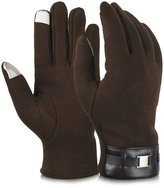 Vbiger Men's Touch Screen Gloves Thick Winter Warm Wear for Outdoor Sports (gray)