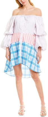 Rococo Sand Camellia A-Line Dress