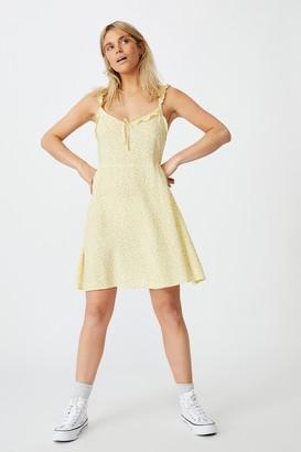 Cotton On Woven Quinn Ruffle Strap Mini Dress