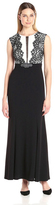 Alex Evenings 160101 Sleeveless Illusion Lace Border Long Gown