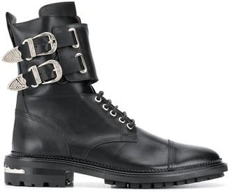 Toga Virilis Double-Buckle Strap Ankle Boots
