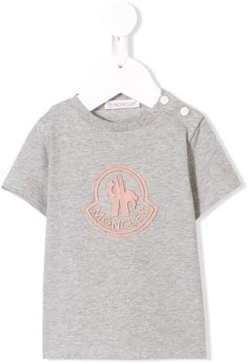 Moncler Enfant logo embroidered T-shirt