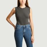 American Vintage Gray Cotton Uni Camiliday Body - m | cotton | gray