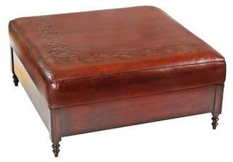 New World Trading Leather Ottoman New World Trading