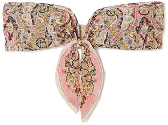Zimmermann Freja Tie-detailed Paisley-print Bandeau Bikini Top