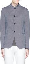 Armani Collezioni Mandarin collar jersey jacket