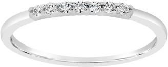 Affinity Diamond Jewelry Affinity 1/10 cttw Diamond 7-Stone Band Ring, 14K Gold