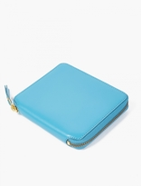 Comme des Garcons Blue Classic Leather Wallet