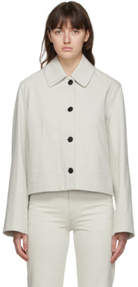 The Row Grey Denim Leos Jacket