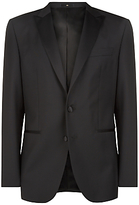 Jaeger Wool Mohair Regular Fit Dinner Suit Jacket, Black
