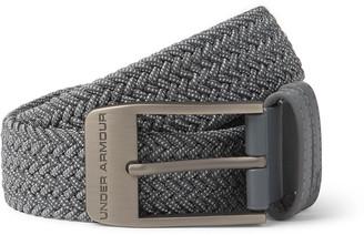 Under Armour Ua 3.5cm Faux Leather-Trimmed Woven Belt