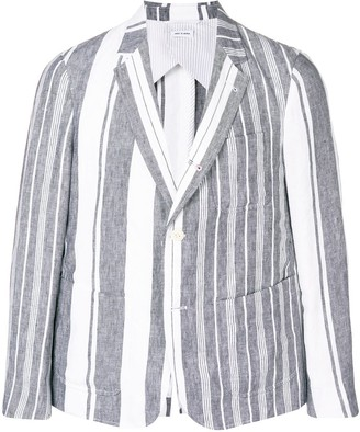 Thom Browne Striped Linen Sack Sport Coat