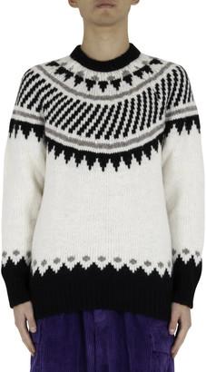 Roberto Collina Jacquard Sweater - White/black