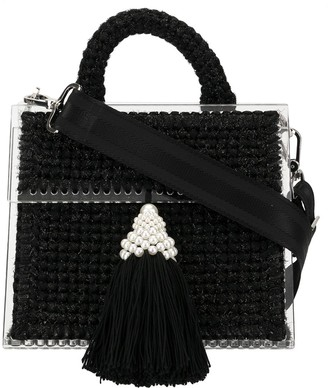 0711 Tassel Embellished Mini Tote Bag