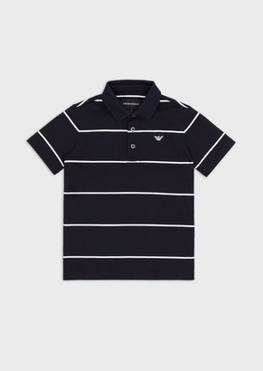 Emporio Armani Polo In Jersey Interlock A Righe