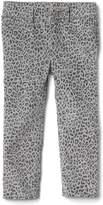 Gap High stretch leopard print skinny cord jeans