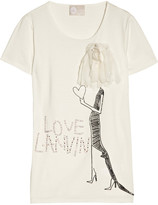 Lanvin Embellished cotton and bamboo-blend jersey T-shirt