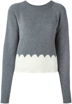 Chloé scalloped intarsia jumper