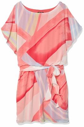 SL Fashions Women's Geo Print Blouson Dress
