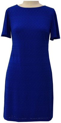 London Times Ruffle Sleeve Shift Dress (Petite)