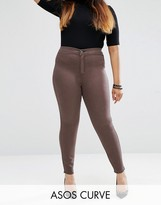 Asos Rivington Jegging In Coffee