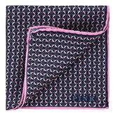 Thomas Pink Monkey Heart Print Pocket Square