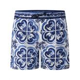 Dolce & Gabbana Dolce & GabbanaBoys Blue Majolica Print Swim Shorts