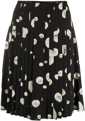 Balenciaga Pre-Owned 2000s Abstract Print Pleated Skirt