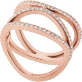 Michael Kors Brilliance rose-gold and crystal ring