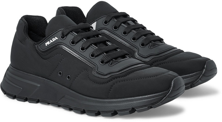 e06b51c5 Match Race Rubber And Leather-Trimmed Nylon Sneakers