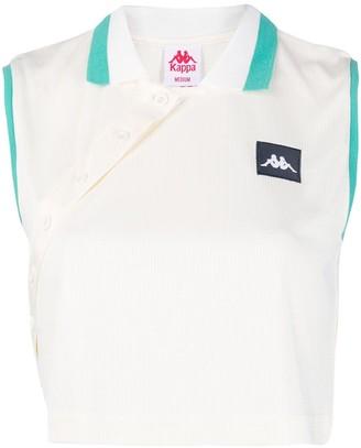 Kappa Cropped Sleeveless Polo Shirt