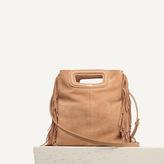 Maje Small fringed leather bag
