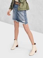 Gap Denim mini pencil skirt
