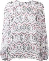 Giambattista Valli geometric print blouse