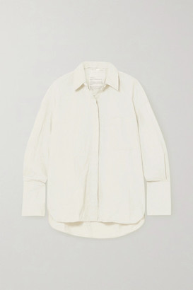 Bite Studios + Net Sustain Oversized Crinkled-organic Cotton Shirt
