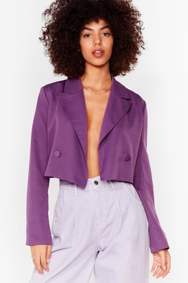 Nasty Gal Womens Woman's World Cropped Blazer - Beige - 6, Beige