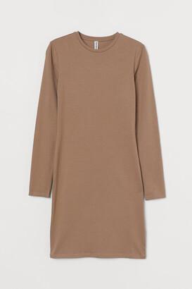 H&M Long-sleeved Bodycon Dress