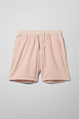 Weekday Olsen Seersucker Shorts - Beige