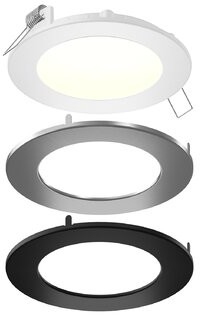 """DALS Lighting Aegis LED Panel Light 6"""" Open Recessed Lighting Kit DALS Lighting Size: 1"""" H x 4"""" W x 4"""" D"""