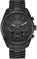Bulova Caravelle New York by Men's Chronograph Black-Tone Stainless Steel Bracelet Watch 44mm 45B122