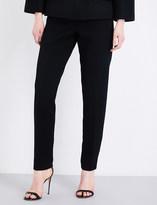Oscar de la Renta Skinny high-rise wool-blend trousers