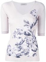D-Exterior D.Exterior floral T-shirt