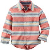 Carter's Plaid Button Down Shirt (Toddler) - Stripe - 2T