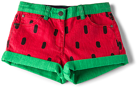 Stella McCartney Hula Girls Denim Shorts