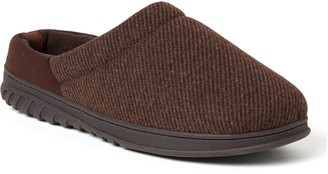 Dearfoams Men's Woven Fairisle Footbed Clog Slippers - Steven