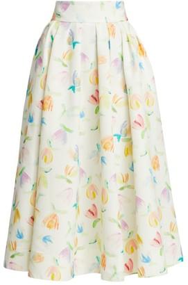 Rosie Assoulin Full A-Line Midi Skirt