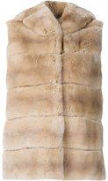 Yves Salomon Hooded Fur Vest