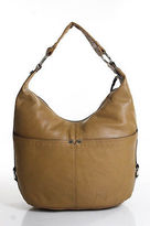 Tignanello Brown Leather Silver Accent Medium Shoulder Handbag
