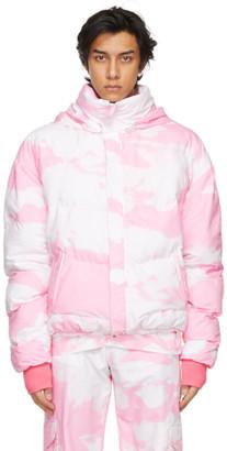 Phlemuns Pink Hooded Puffer Jacket